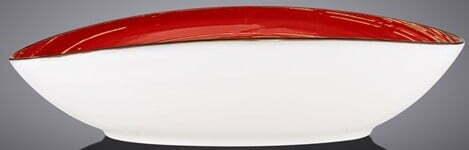 Блюдо овальное глубокое Wilmax Spiral Red 25х16,5х6 см WL-669240 / A купить на сайте Биол шоп