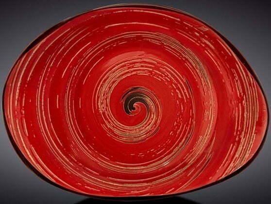 Блюдо камень Wilmax Spiral Red 33х24,5 см WL-669242 / A купить недорого онлайн