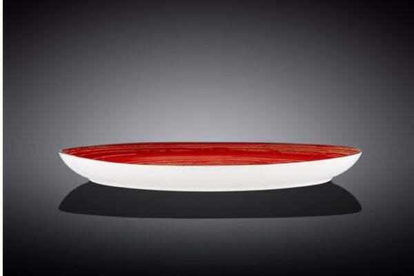 Блюдо камень Wilmax Spiral Red 33х24,5 см