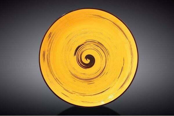 Тарелка десертная Wilmax Spiral Yellow 205 мм WL-669412 / A