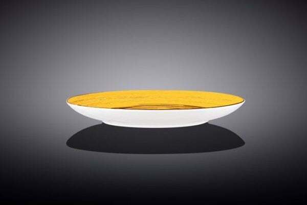 Тарелка десертная Wilmax Spiral Yellow 205 мм