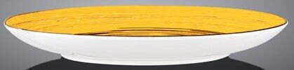 Тарелка десертная Wilmax Spiral Yellow 20,5 см WL-669412 / A отзывы и фото