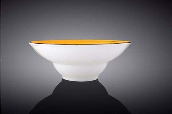 Тарелка глубокая Wilmax Spiral Yellow