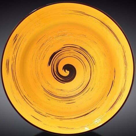 Тарелка глубокая Wilmax Spiral Yellow 350 мл WL-669427 / A купить недорого онлайн