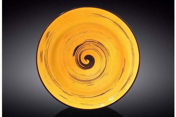 Тарелка глубокая Wilmax Spiral Yellow WL-669427 / A