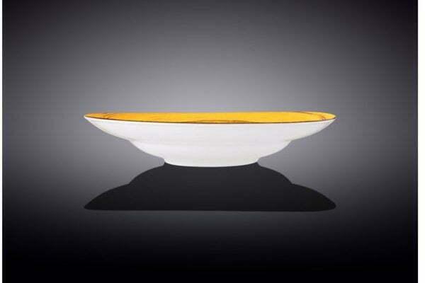 Тарелка глубокая Wilmax Spiral Yellow купить