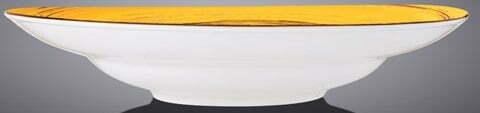 Тарелка глубокая Wilmax Spiral Yellow 350 мл WL-669427 / A купить в Одессе