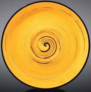 Блюдце Wilmax Spiral Yellow 12 см WL-669434 / B купить недорого онлайн