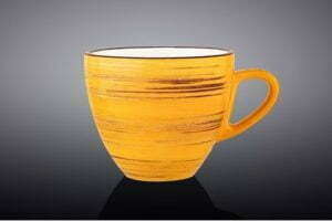 Чашка чайная Wilmax Spiral Yellow 190 мл WL-669435 / A