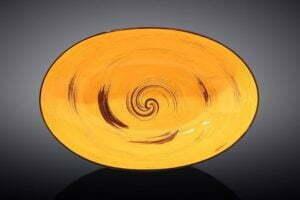 Блюдо глубокое Wilmax Spiral Yellow 25х16,5х6 см WL-669440 / A