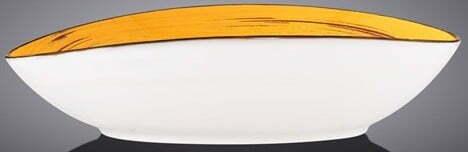 Блюдо глубокое Wilmax Spiral Yellow 25х16,5х6 см WL-669440 / A купить в интернет магазине