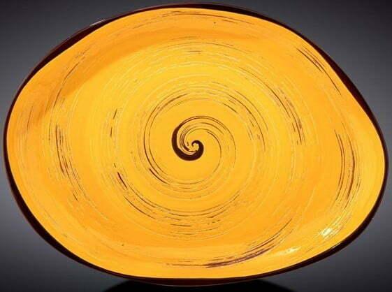 Блюдо камень Wilmax Spiral Yellow 33х24,5 см WL-669442 / A купить недорого онлайн