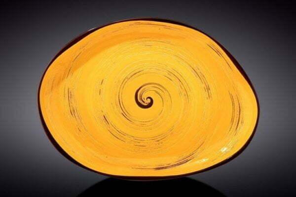 Блюдо камень Wilmax Spiral Yellow WL-669442 / A