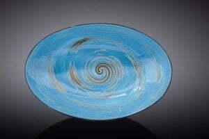 Блюдо глубокое Wilmax SPIRAL BLUE