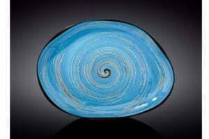 Блюдо камень Wilmax SPIRAL BLUE