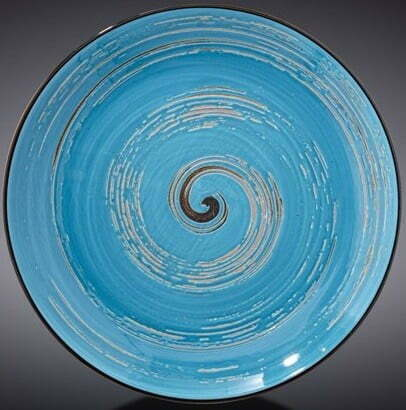 Тарелка десертная Wilmax Spiral Blue 20,5 см WL-669612 / A купить в интернет магазине