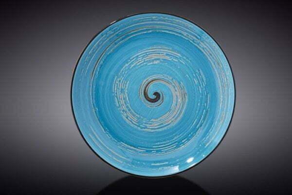 Тарелка десертная Wilmax Spiral Blue 20,5 см WL-669612 / A