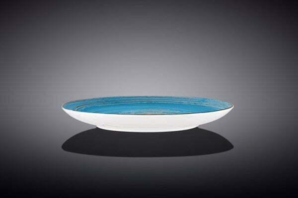 Тарелка десертная Wilmax Spiral Blue 20,5 см низкая цена на сайте