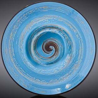 Тарелка глубокая Wilmax Spiral Blue 800 мл WL-669622 / A купить недорого онлайн