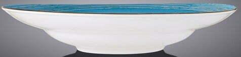 Тарелка Wilmax глубокая Spiral Blue 350 мл WL-669627 / A отзывы и фото