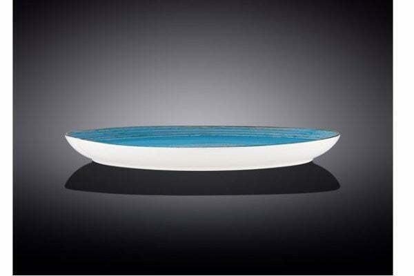 Блюдо камень Wilmax SPIRAL BLUE WL-669642 / A