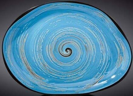 Блюдо камень Wilmax SPIRAL BLUE 33х24,5 WL-669642 / A купить недорого онлайн