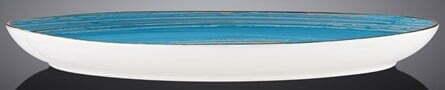 Блюдо камень Wilmax SPIRAL BLUE 33х24,5 WL-669642 / A фото и отзывы