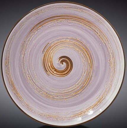 Тарелка Wilmax Spiral Lavander 23 см WL-669713 / A купить недорого онлайн