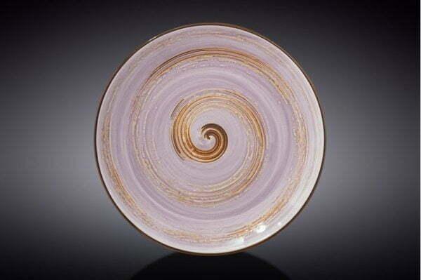 Тарелка Wilmax Spiral Lavander низкая цена на сайте