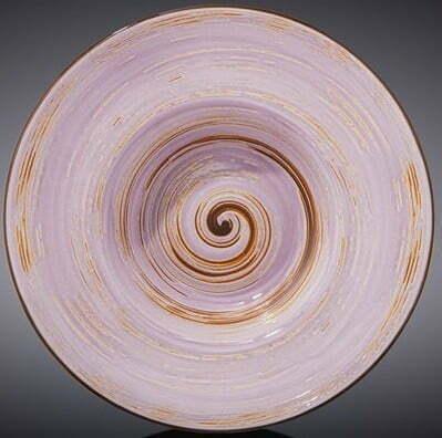 Тарелка глубокая Wilmax Spiral Lavander 20 см WL-669722 / A купить недорого онлайн