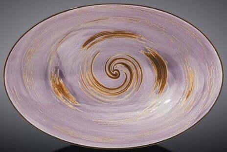 Блюдо овальное Wilmax Spiral Lavander 25х16,5х6 см WL-669740 / A купить недорого онлайн
