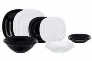 Сервиз 19 предметов Luminarc Authentic Black White N1491