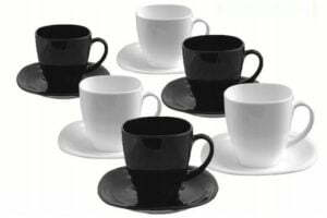 Чайный cервиз Luminarc Carine Black/White из 12 предметов D2371