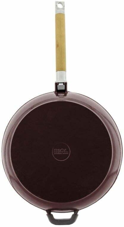 Сковорода 24 см Биол чугунная эмалированная 03247E купить в интернет магазине