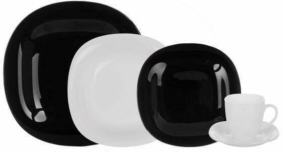 Столовый сервиз Luminarc Carine Black&White 30 предметов N1500 купить недорого онлайн