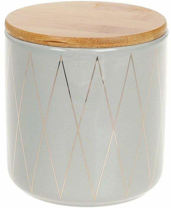 Банка керамическая BonaDi 600 мл с бамбуковой крышкой 304-913 купить недорого онлайн