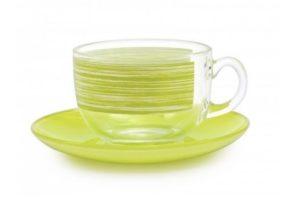 Чайный сервиз Luminarc Brush Mania Green 220 мл лучшая цена