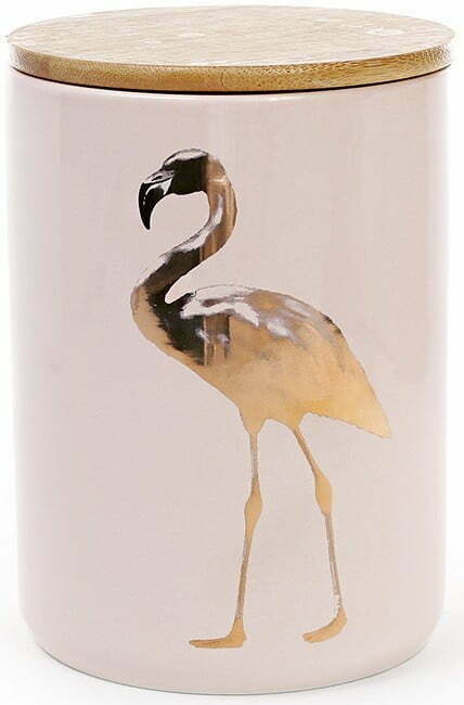 Банка фарфоровая Фламинго 1,2 л с крышкой BonaDi 945-125 купить недорого онлайн