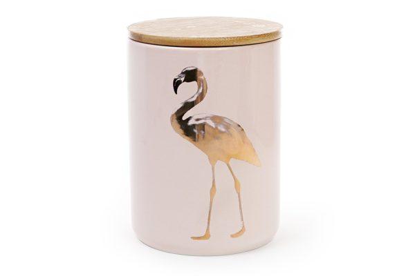 Банка фарфоровая Фламинго 1,2 л с крышкой BonaDi 945-125