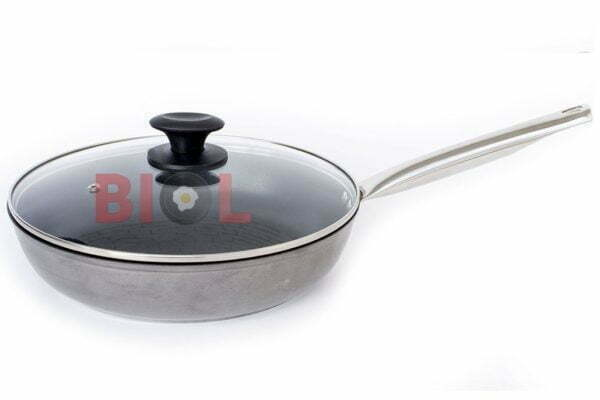 Сковорода антипригарная Profi со стеклянной крышкой Биол