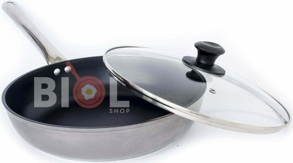Сковорода антипригарная Profi со стеклянной крышкой Биол 24 см 2413НЛ купить на сайте магазина Биолшоп