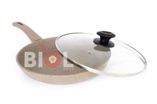 Сковорода со стеклянной крышкой Оптима-Декор 24 см низкая цена