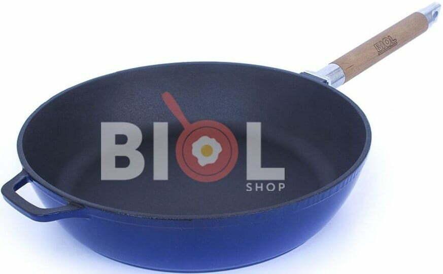 Сковорода чугунная Биол эмалированная 24 см 03244E купить недорого онлайн