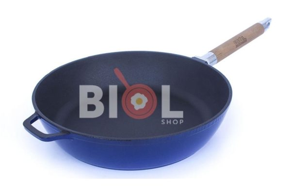 Сковорода чугунная Биол эмалированная 24 см низкая цена