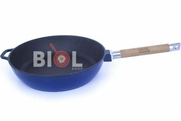 Сковорода чугунная Биол эмалированная 24 см заказать