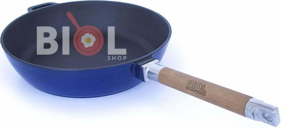 Сковорода чугунная Биол эмалированная 24 см 03244E купить в Киеве