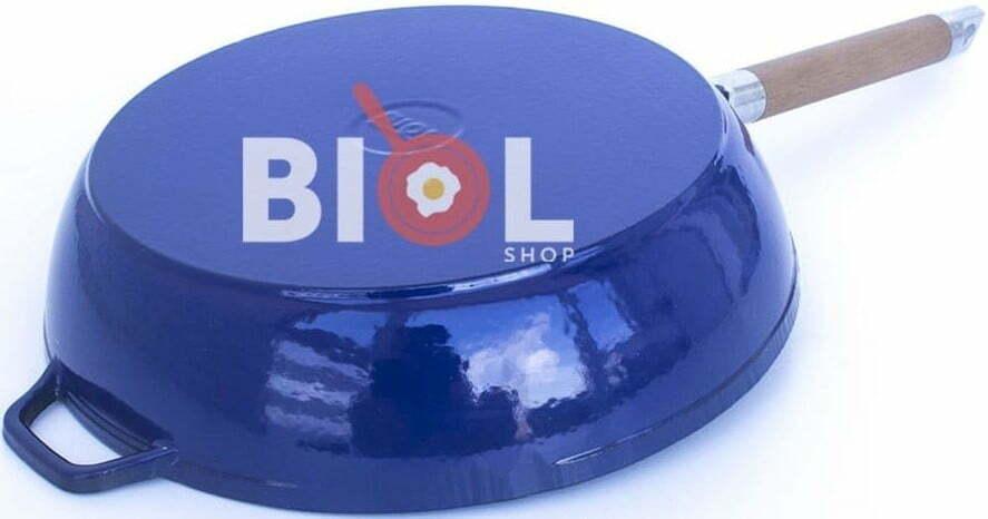 Сковорода чугунная Биол эмалированная 24 см 03244E купить в Харькове