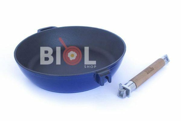 Сковорода чугунная Биол эмалированная 24 см 03244E