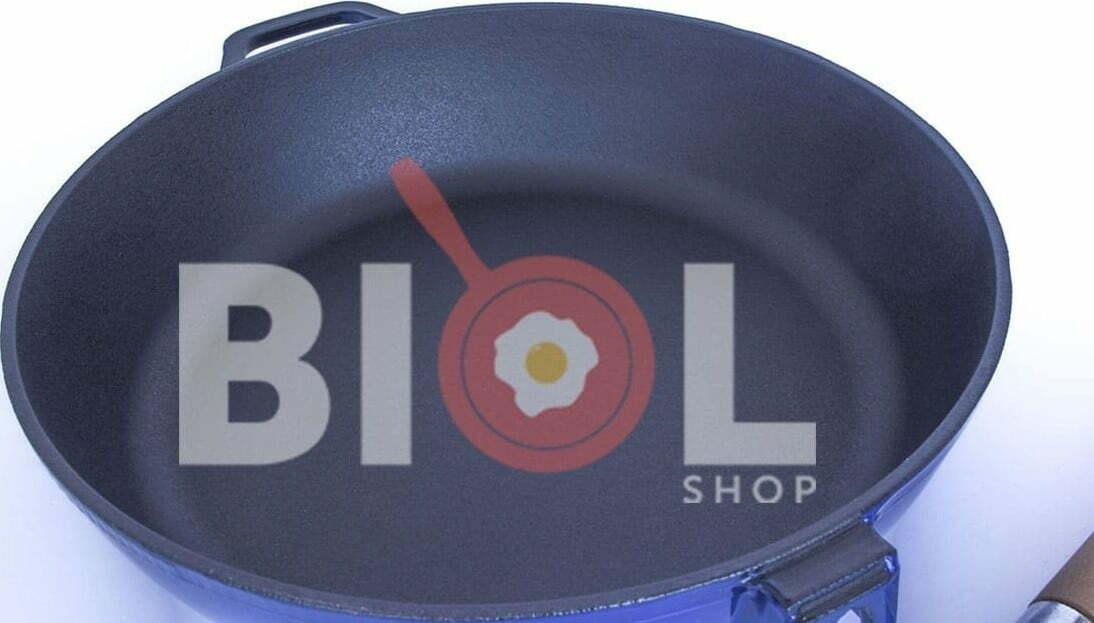 Сковорода чугунная Биол эмалированная 24 см 03244E низкая цена