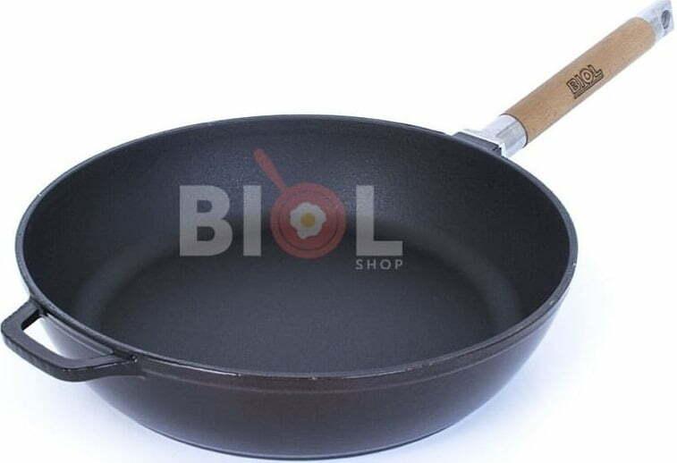 Сковорода 24 см Биол чугунная эмалированная 03247E описание